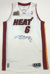 LEBRON JAMES Autographed Miami Heat 2012 Champion Patch Jersey UDA LE 8/12