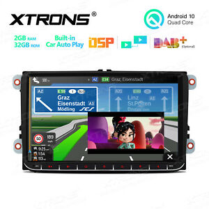 """9"""" Android 10.0 Car GPS Stereo Radio 2+32GB Car Auto Play IPS DSP Wifi For VW"""