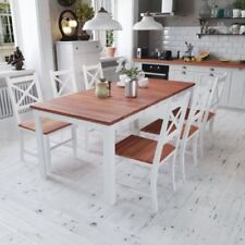 Mahogany Up to 6 Seats 7 Pieces Table & Chair Sets