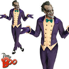 The Joker Mens Halloween Batman Villain Deluxe Fancy Dress Adults Costume Outfit