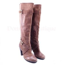 DKNYC Raleigh Womens Sz. 9.5 Brown Truffle Leather Knee High Boot DKNY 40.5 EUC