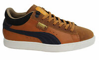 Puma Basket MMQ Lace Up Leather Textile Mens Trainers 355550 02 U43