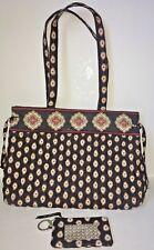 Vera Bradley Large Tote bag / Purse w/ Matching Wallet