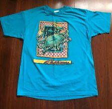 Vtg Baltimore T Shirt Crabs National Aquarium L 1990 50/50 Made Usa Turquoise