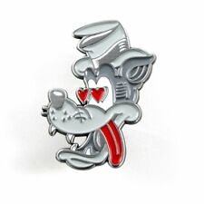 Dumb Junk Tail Chaser Wolf Enamel Pin NEW Collectible Lapel Retro Cartoon Heart