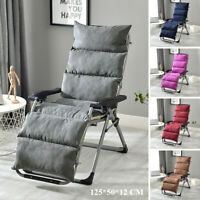 125cm Sun Lounger Recliner Chair Pad Cushion Seat Mat Garden Patio Outdoor -)