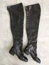 Guidi Black Leather Thigh High Over Knee Boots 40 10