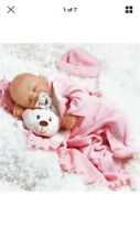 PARADISE GALLERIES NEWBORN BABY DOLL LOOKS REAL SLEEPING 16 inch BABY CARLY
