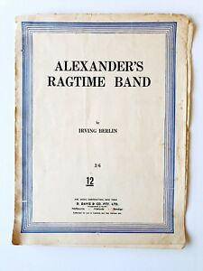 Alexander's Ragtime Band by Irving Berlin - Sheet Music