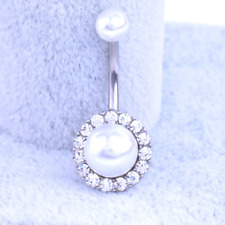 Belly Button Bar Bars Round Body Piercing Stainless Steel Navel Dangle Drop Gift