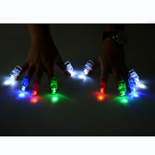 100 Pcs Finger Light up Ring Laser LED Rave Party Favors Glow Beams