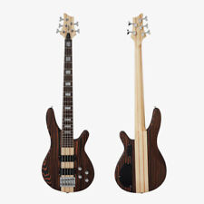 New Exotic Solid Zebrawood 5-String Maple Neck Electrical Bass Guitar STB160