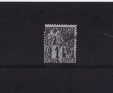 timbre France Colonies Francaises  Dubois   1c   noir sur azuré  num: 46  obl