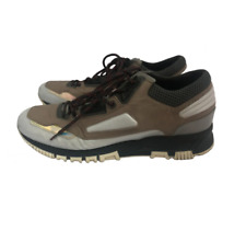 Lanvin Trainers UK 9 Men's Brown Reflective Low Top Lace Up Casual Sports 479008
