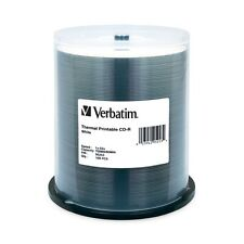 Verbatim CD-r 700MB 52 x White thermal prinable 100-broche Pack