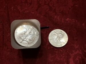 Roll of Silver Eagle One Dollar Coins 20 2002
