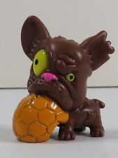The Ugglys Pet Shop Series 1 Stenchy French Bulldog 028 Dark Brown Moose Toys