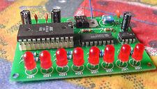 8 LED light chaser KIT eeprom programmable