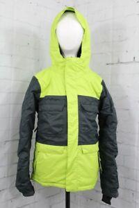 686 Approach Insulated Snowboard Jacket Youth Boys Medium (10-12) Gunmetal Green