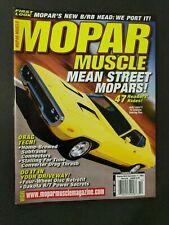Mopar Collector's Guide Magazine September 2002 Mean Street Drag Tech #M111