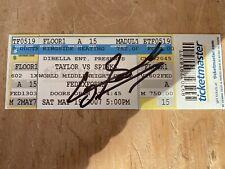 New listing Jermain Taylor vs Cory Spinks Autographed Boxing Ticket (2007) Memphis, Tenn