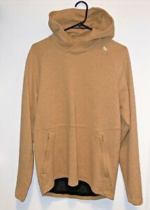 "Lightly Used lululemon At Ease Hoodie ""Heathered Gold Buff/Black"" Size M"