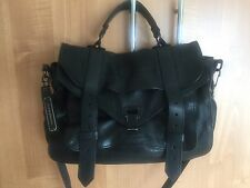 Auth Black Leather PS1 Medium Satchel Bag Proenza Schouler Retail Price 1780.00!