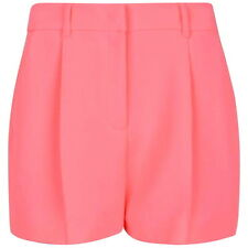 MCQ ALEXANDER MCQUEEN WOMENS NEON PINK CREPE SHORTS *IT 42/UK 10-12* BNWT