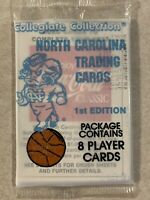 1- 1989 1ST EDITION CC NORTH CAROLINA BASKETBALL CARD PACKS- JORDAN? New