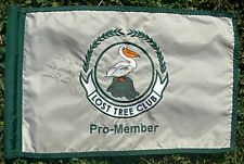 LOST TREE CLUB JACK NICKLAUS AUTOGRAPHED EMBROIDERED GOLF FLAG