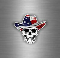Sticker adesivo adesivi tuning jdm cranio biker skull teschio bandiera usa