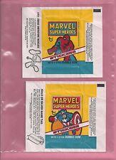 MARVEL SUPER HEROES (1976) STICKERS (40/40) & CHECKLIST (9/9) CARD SET !