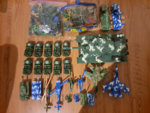 Army Men Plastiksoldaten Konvolut - Großer Panzer, Figuren, Fahrzeuge - 1/32