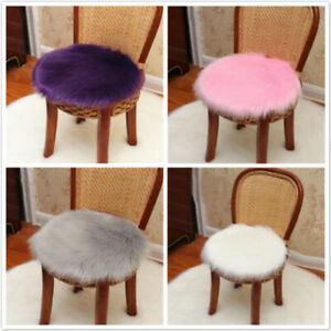 Soft Fluffy Sheepskin Chair Cover Seat Cushion Pad/Mat Plush Fur Area Rug Carpet