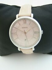 FOSSIL WOMENS JACQUELINE WATCH ES4151 STAINLESS STEEL LEATHER