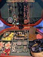 Jewelry Lot Vintage Bohemian Wholesale Brooch Necklace Bracelet Ring More JB341