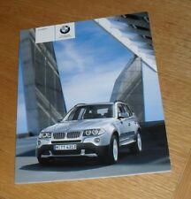 BMW X3 Brochure 2008 - 2.5si 3.0si 2.0d 3.0d 3.0sd SE & M Sport