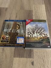 Big Fish And Where The Wild Things Are Dvd/Blue Ray ; Very Good