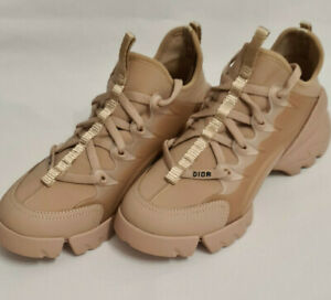 Dior D-Connect Sneaker Nude Technical Fabric Lace Up Walk'N'Dior EU 38 US7 UK 4