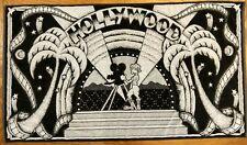 Vintage Late 70s Hollywood Nostalgia Large Beach / Bath Towel New