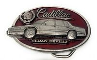 Cadillac Sedan Deville Pewter Belt Buckle 1992 Made In USA