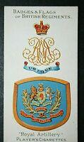 ROYAL ARTILLERY     Original 1904 Vintage Colours & Badge Card