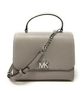 Michael Kors Mott Medium TH Satchel Leather Crossbody Clutch