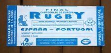 Entrada de Final CAMPEONATO EUROPA de RUGBY 1997, ESPAÑA vs PORTUGAL. (Ticket)