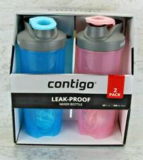Contigo 2-Pack Leak Proof Mixer Bottles 28oz, Cotton Candy  Robin Egg Blue