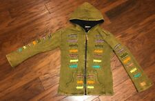 Kyber full Zip up Hoodie lined boho multicolor hoodie~Sz women's medium Hippie