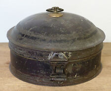Antique 19th C Painted TOLEWARE Tin Compartment SPICE BOX With NUTMEG GRATER