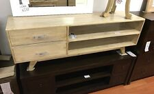 TV entertainment unit rustic mango fruit wood timber retro danish 150cm long