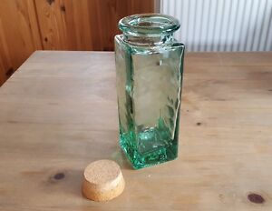 Vintage Recycled Green Bottle with Cork