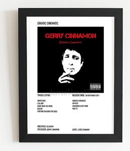 Gerry Cinnamon Poster Erratic Cinematic Album Art Polaroid Style Rock A5,A4,A3